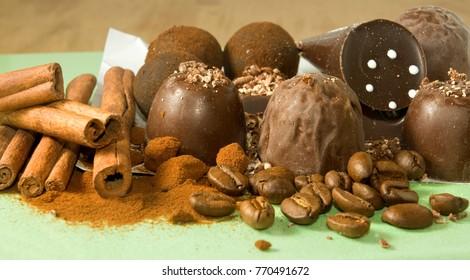image of chocolates closeup