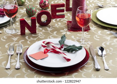 Image of christmas table setting