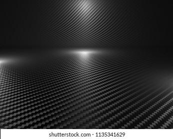 image of classic carbon fiber 3d rendering