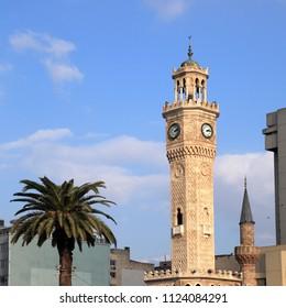 An image of clock tower in Izmir,Turkey