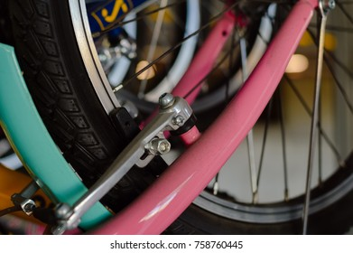 Image closeup of bicycle shop for abstract business recreational lifestyle background use.