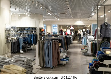 Image of clothing shop in modern mall