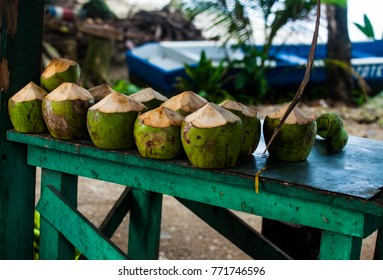 Image from Coconut sold on the Street in Costa Rica at the Caribbean/Puerto Viejo