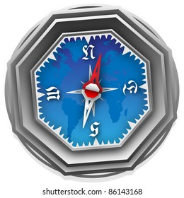 An image of a  Compass. Can be scaled  without problems and quality loss.