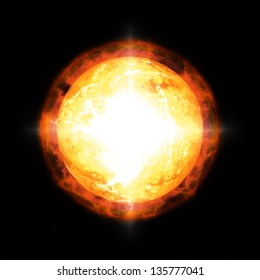 An image of a cool sun in space
