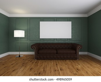 Image couch in the light room 3d rendering