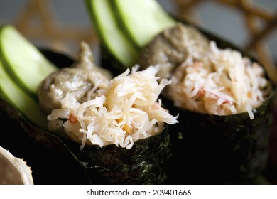 An Image of Crab Sushi