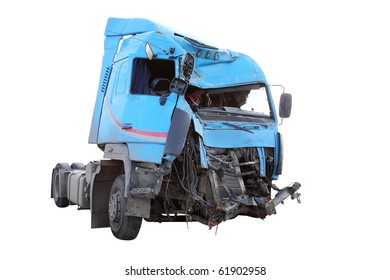The image of crash truck under the white background