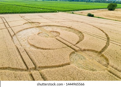 An image of crop circles field Alsace France