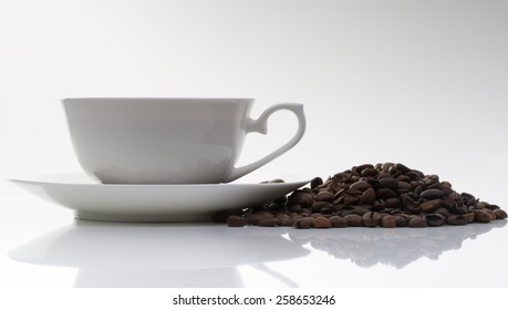 an image of cup of coffee over white background