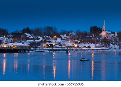 Image of Damariscotta, Maine in the winter time