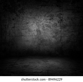 Image of dark concrete wall and floor