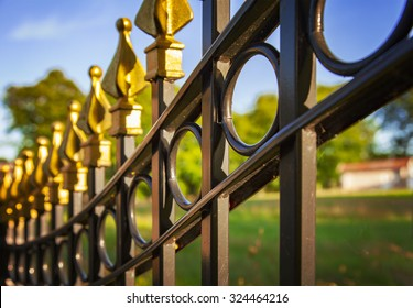Image of a decorative cast iron fence.