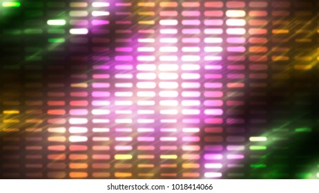 Image of defocused stadium lights. Abstract pink background with neon effects and colorful lights. illustration digital.