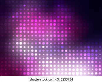 Image of defocused stadium lights.Abstract pink background with neon effects and colorful lights.