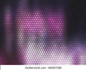 Image of defocused stadium lights.  Abstract pink background.