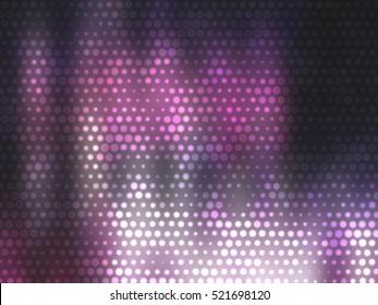 Image of defocused stadium lights.  Abstract pink background. illustration digital.