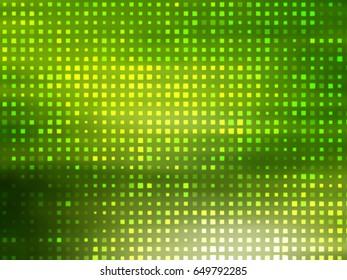 Image of defocused stadium lights.  Abstract green background. illustration digital.