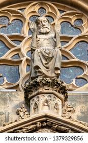 An image of a detail of Saint Theobald's Church, Thann