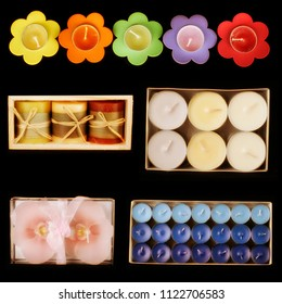 an image of different candles variation