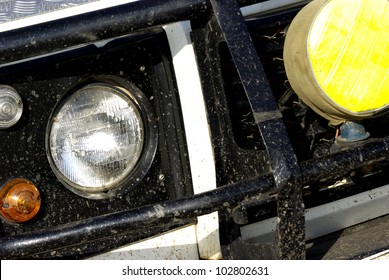 Image of a dirty safari off-road car detail