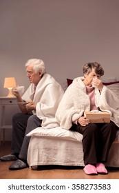 Image of dispute between married senior couple