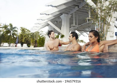 the image of drinking people in swimming pool,Boracay in Philippine