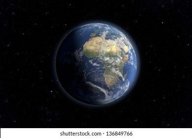 An image of an Earth view from space. Elements of this image furnished by NASA.