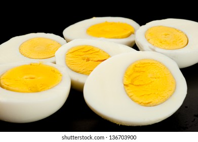 Image of an eggs on black background