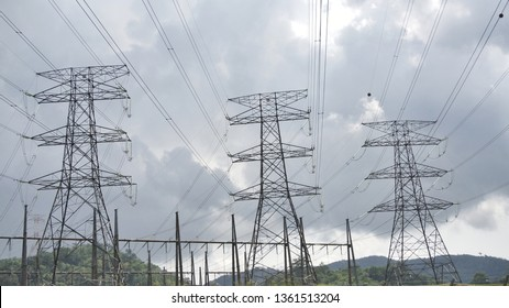 Image of electricity power tower