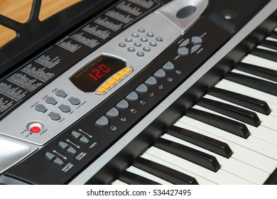 Image of an electronic piano close up