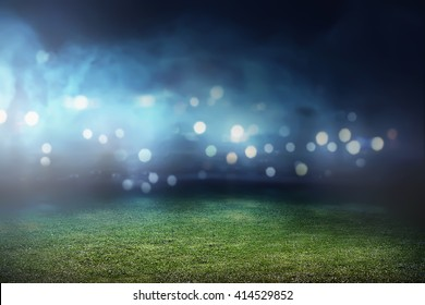 Image of empty football stadium background. You can put your design