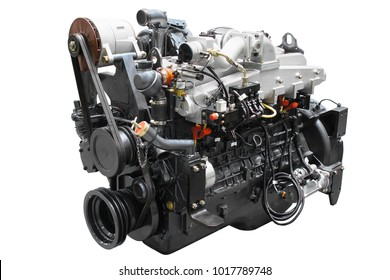 The image of an engine isolated under the white background