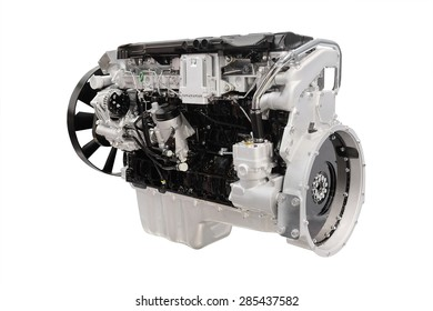 The image of an engine on white background