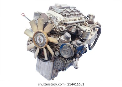 image of an engine under the white background