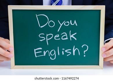 Image of English conversation(Do you speak English?)