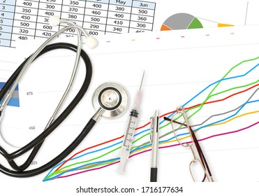 Image of epidemiological data report and analyzing about disease spread