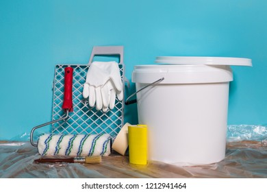 Image of equipment for painting wall.