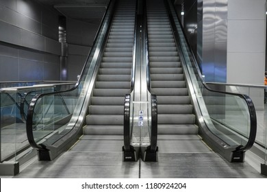 The image of an escalator