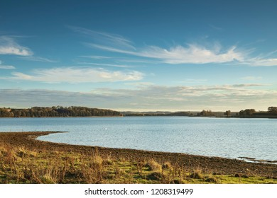 An image of Eyebrook reservoir on a beautiful Autumn afternoon in Englands smallest county, Rutland, UK.
