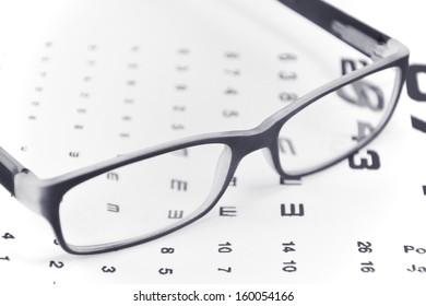 image of eyeglasses on white background