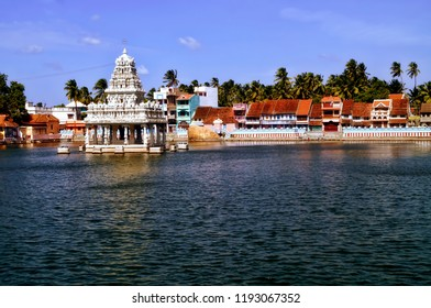 Image of the famous Lord Shiva temple at Suchindram located in the scenic town of Kanyakumari in the Indian state of Tamil Nadu
