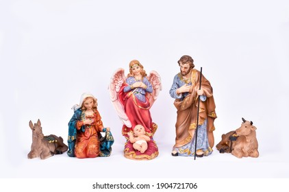 Image figures for the Christmas Nativity Portal isolated on a white background.
