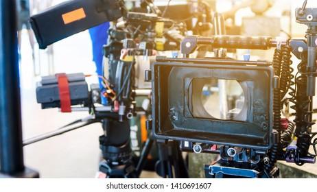 Image of filming crew equipment