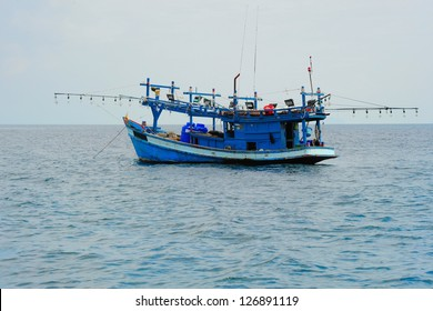 Image of Fishing boat in the open sea