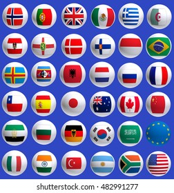 Image of flags of countries closeup