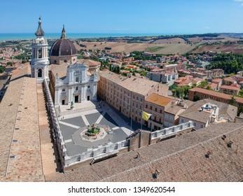 An image of a flight over Basilica della Santa Casa Loreto Italy