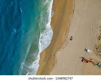 An image of a flight over a beach near Ancony Italy