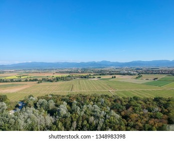 An image of a flight over Rhine areal with Vosges France