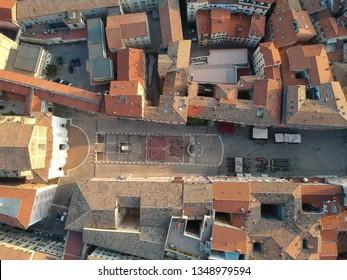 An image of a flight over San Domenico church in Ancony Italy